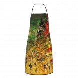 Konstantin Korovin Paris By Night 02 Cute Aprons for with , Aprons for the Kitchen, Cotton Apron for Cooking Baking BBQ Restaurant,28x20 inch,applicable beverage shops 52cm x 72cm