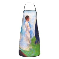 Georges Seurat Study For 'bathers At Asnières' Cute Aprons for with , Aprons for the Kitchen, Cotton Apron for Cooking Baking BBQ Restaurant,28x20 inch,applicable hotels 52cm x 72cm