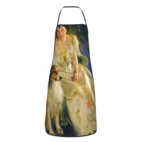 Anders Leonard Zorn Mrs. Walter Rathbone Bacon (virginia Purdy Barker, 1862–1919) Cute Aprons for with , Aprons for the Kitchen, Cotton Apron for Cooking Baking BBQ Restaurant,28x20 inch,applicable Supermarkets 52cm x 72cm