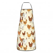 A Brood Of Chickens Cute Aprons for with , Aprons for the Kitchen, Cotton Apron for Cooking Baking BBQ Restaurant,28x20 inch,applicable Supermarkets 52cm x 72cm