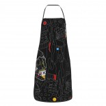 Womam Abstract Forms Skull Cute Aprons for with , Aprons for the Kitchen, Cotton Apron for Cooking Baking BBQ Restaurant,28x20 inch,applicable restaurants 52cm x 72cm
