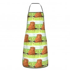 Whimsical Groundhog Day Out Cute Aprons for with , Aprons for the Kitchen, Cotton Apron for Cooking Baking BBQ Restaurant,28x20 inch,applicable hotels 52cm x 72cm