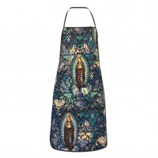 Virgin Mary Religious Catholic 2 Cute Aprons for with , Aprons for the Kitchen, Cotton Apron for Cooking Baking BBQ Restaurant,28x20 inch,applicable hotels 52cm x 72cm