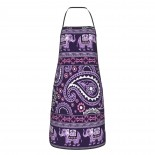 Purple Elephant Paisley Cute Aprons for with , Aprons for the Kitchen, Cotton Apron for Cooking Baking BBQ Restaurant,28x20 inch,applicable craftsmen 52cm x 72cm