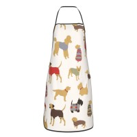 Doggy Days Print Cute Aprons for with , Aprons for the Kitchen, Cotton Apron for Cooking Baking BBQ Restaurant,28x20 inch,applicable Supermarkets 52cm x 72cm