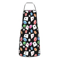 Poker And Dice Cute Aprons for with , Aprons for the Kitchen, Cotton Apron for Cooking Baking BBQ Restaurant,28x20 inch,applicable kitchens 52cm x 72cm