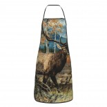 ELK Art Cute Aprons for with , Aprons for the Kitchen, Cotton Apron for Cooking Baking BBQ Restaurant,28x20 inch,applicable beverage shops 52cm x 72cm