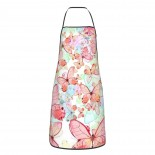 Pink Cute Butterflies Cute Aprons for with , Aprons for the Kitchen, Cotton Apron for Cooking Baking BBQ Restaurant,28x20 inch,applicable Supermarkets 52cm x 72cm