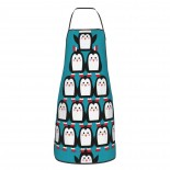 Penguins Christmas Tree Cute Aprons for with , Aprons for the Kitchen, Cotton Apron for Cooking Baking BBQ Restaurant,28x20 inch,applicable restaurants 52cm x 72cm