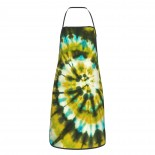 Army Green Spiral Tie Dye Cute Aprons for with , Aprons for the Kitchen, Cotton Apron for Cooking Baking BBQ Restaurant,28x20 inch,applicable beverage shops 52cm x 72cm