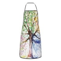 Art Color Tree Cute Aprons for with , Aprons for the Kitchen, Cotton Apron for Cooking Baking BBQ Restaurant,28x20 inch,applicable florists 52cm x 72cm