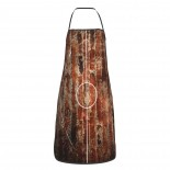 Basketball Court On Grungy Brick Cute Aprons for with , Aprons for the Kitchen, Cotton Apron for Cooking Baking BBQ Restaurant,28x20 inch,applicable hotels 52cm x 72cm