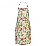 Colorful Cartoon Robots Nursery Style Cute Aprons for with , Aprons for the Kitchen, Cotton Apron for Cooking Baking BBQ Restaurant,28x20 inch,applicable florists 52cm x 72cm