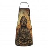 Gautama Buddha Cute Aprons for with , Aprons for the Kitchen, Cotton Apron for Cooking Baking BBQ Restaurant,28x20 inch,applicable hotels 52cm x 72cm