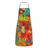 Gummy Bear Cute Aprons for with , Aprons for the Kitchen, Cotton Apron for Cooking Baking BBQ Restaurant,28x20 inch,applicable Supermarkets 52cm x 72cm