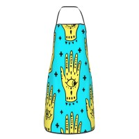 Hamsa Fatima Amulet Symbol Of Protection Cute Aprons for with , Aprons for the Kitchen, Cotton Apron for Cooking Baking BBQ Restaurant,28x20 inch,applicable hotels 52cm x 72cm
