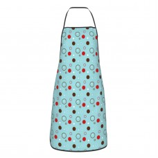 Illustrator Dot Pattern Cute Aprons for with , Aprons for the Kitchen, Cotton Apron for Cooking Baking BBQ Restaurant,28x20 inch,applicable craftsmen 52cm x 72cm