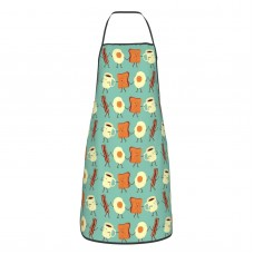 Let's All Go And Have Breakfast Cute Aprons for with , Aprons for the Kitchen, Cotton Apron for Cooking Baking BBQ Restaurant,28x20 inch,applicable craftsmen 52cm x 72cm