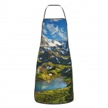 Siberia Altai Mountains Cute Aprons for with , Aprons for the Kitchen, Cotton Apron for Cooking Baking BBQ Restaurant,28x20 inch,applicable Supermarkets 52cm x 72cm
