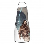 Skull Astronaut Cute Aprons for with , Aprons for the Kitchen, Cotton Apron for Cooking Baking BBQ Restaurant,28x20 inch,applicable hotels 52cm x 72cm