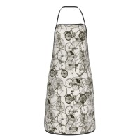Vintage Retro Bicycle Cute Aprons for with , Aprons for the Kitchen, Cotton Apron for Cooking Baking BBQ Restaurant,28x20 inch,applicable florists 52cm x 72cm
